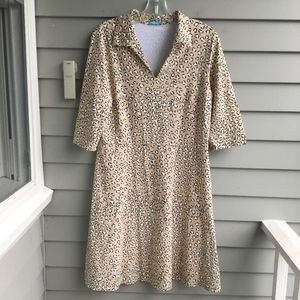J.MCLAUGHLIN Animal Print Haley Dress L